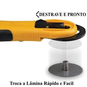 Cortador Rotativo Olfa RTY-3G 60mm